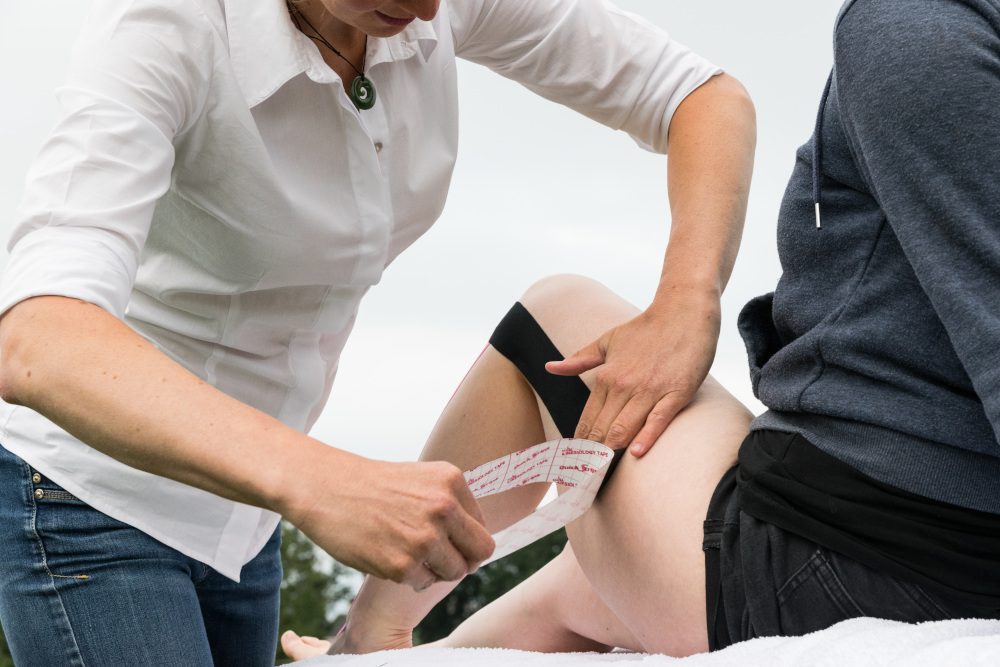 Fysiotherapie sporter tape Amersfoort